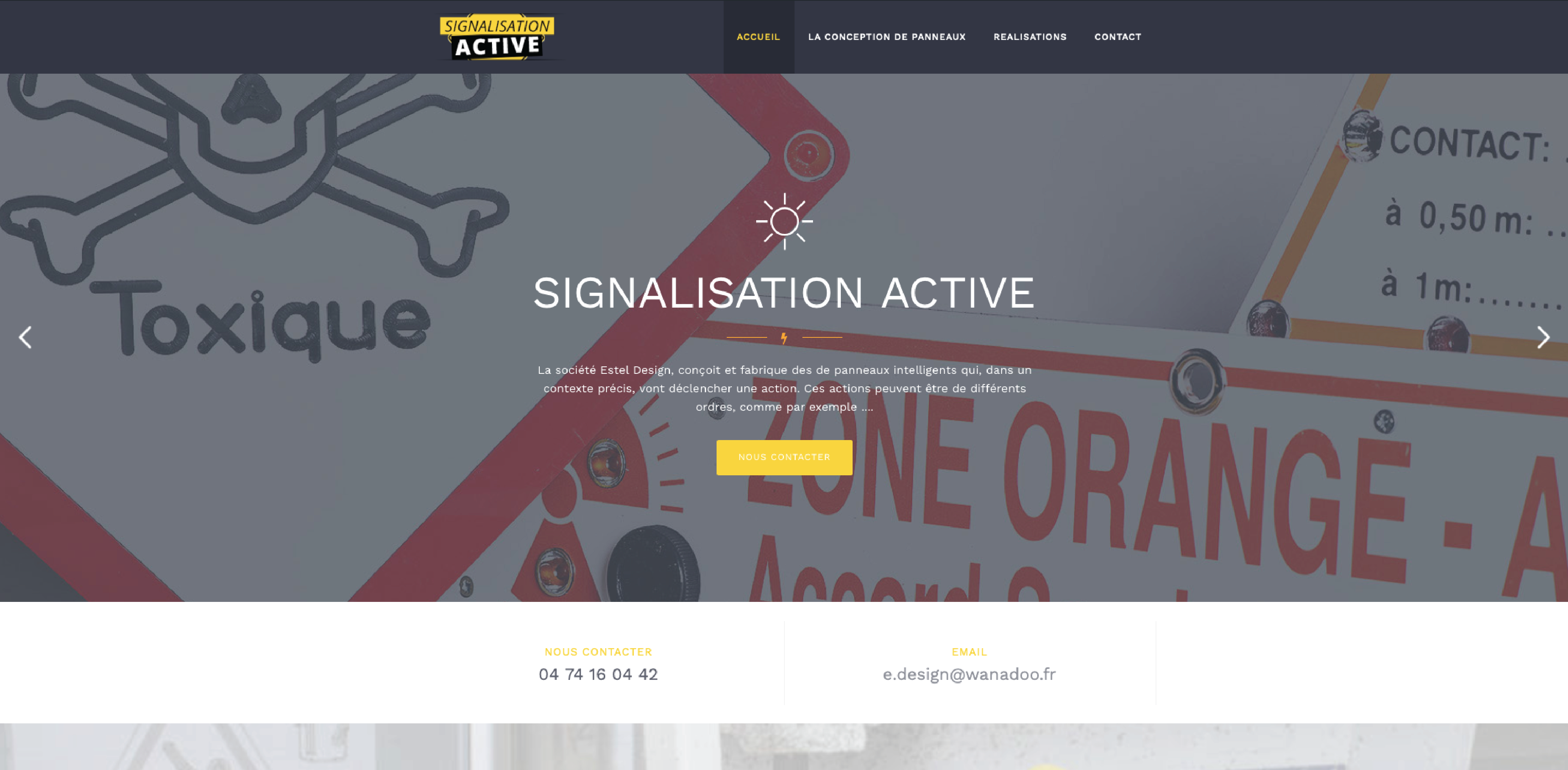 signalisation active_leasy concept, louer mon site, location de site, vente de site internet, site web, lyon, rhone alpes, creation de site internet